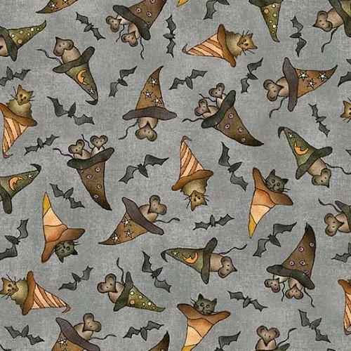 Bats Cats Rats w/Hats - Gray - DDC9686-GRAY-D