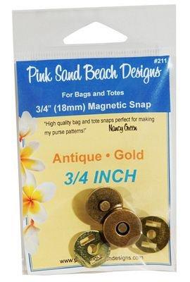 Magnetic Snap Closure - 3/4 Antique Gold