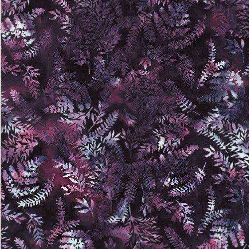 Bali Batik - Mixed Leaves - Grape - T2378-45