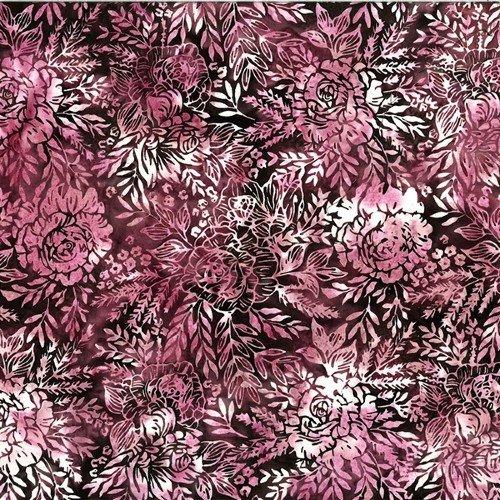 Bali Batik - Floral Bouquet - Mauve - T2384-11