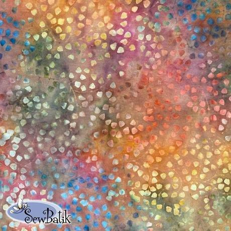 Cotton Batik Jersey Knit Gardenista Vine Autumn Fire 72