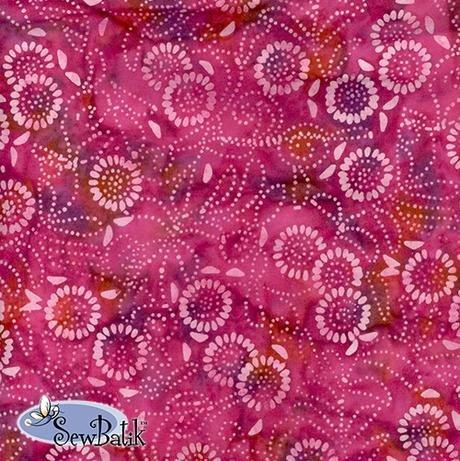 Cotton Batik Jersey Knit Medora Flora Valentine Pink 72
