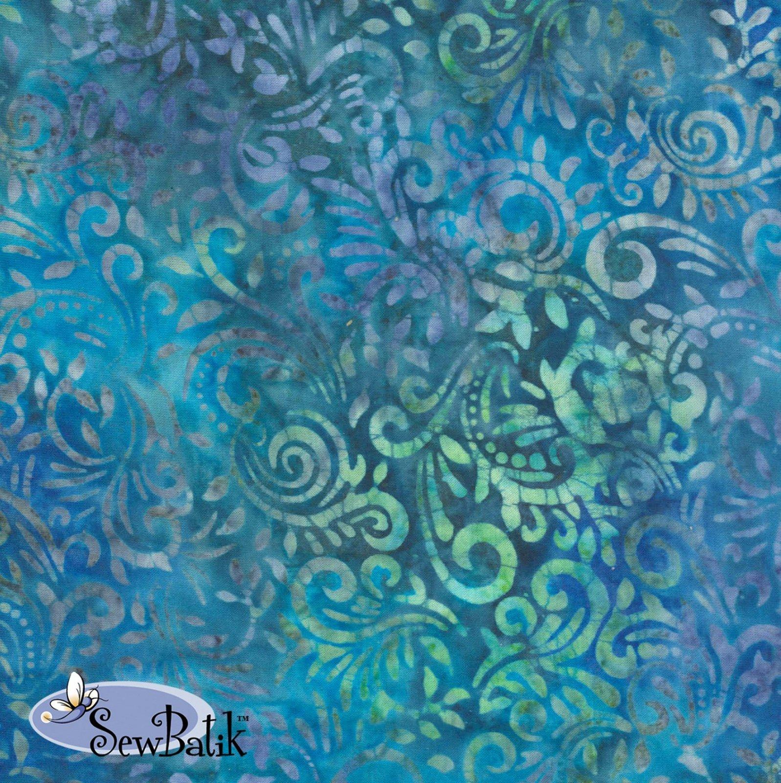 Cotton Batik Jersey Knit Phoenix Aegean Blue 72