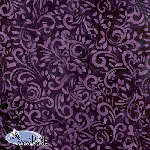 Cotton Batik Jersey Knit Purple Magic 72