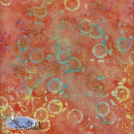 Cotton Batik Jersey Knit Medora Flora Orange Peel 72