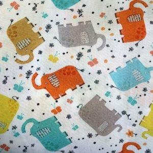 Elephant Joy Tossed Elephants White