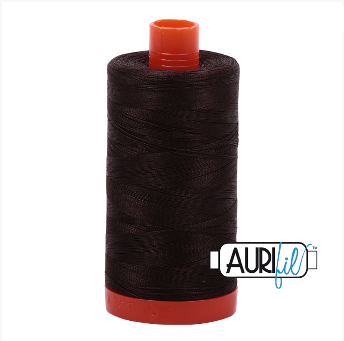 Aurifil #1130 (Very Dark Bark)<br>50 Wt. - 1422 Yds.
