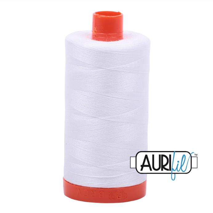 Aurifil #2024 (White)<br>50 Wt. - 1422 Yds.