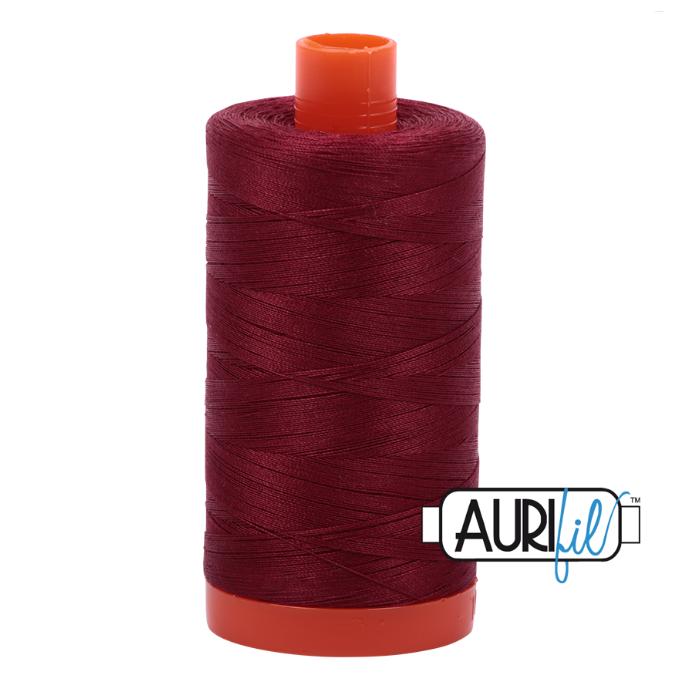 Aurifil #2460 (Dark Carmine Red)<br>50 Wt. - 1422 Yds.