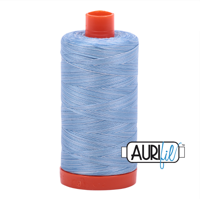 Aurifil #3770 (Variegated - Stone Washed Denim)<br>50 Wt. - 1422 Yds.