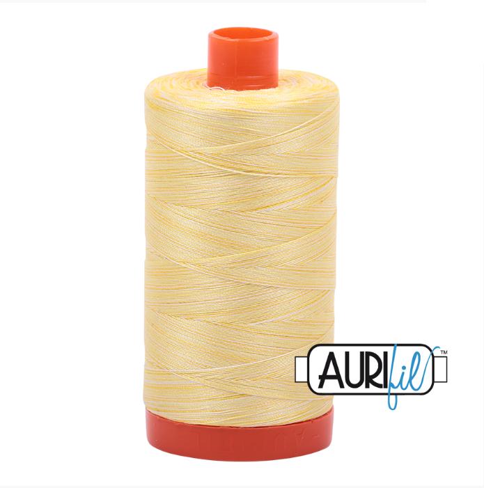 Aurifil #3910 (Variegated - Lemon Ice)<br>50 Wt. - 1422 Yds.