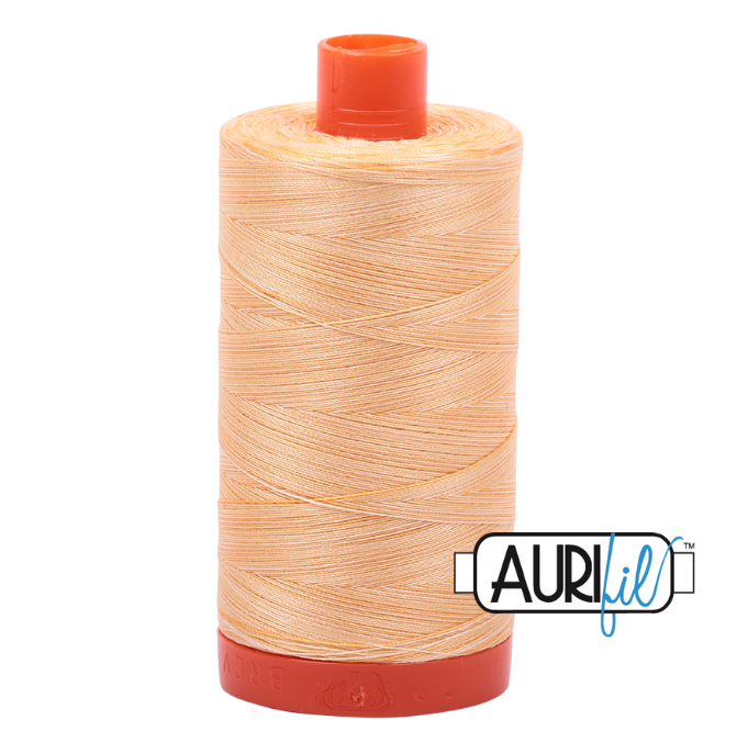 Aurifil #3920 (Variegated - Golden Glow)<br>50 Wt. - 1422 Yds.