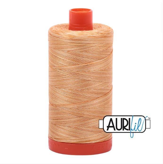 Aurifil #4150 (Variegated - Creme Brule)<br>50 Wt. - 1422 Yds.