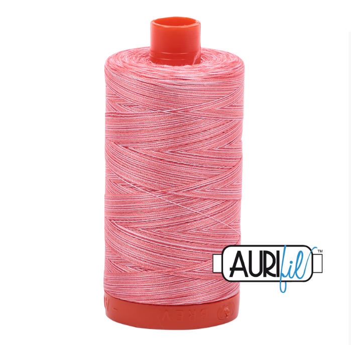 Aurifil #4250 (Variegated - Flamingo)<br>50 Wt. - 1422 Yds.