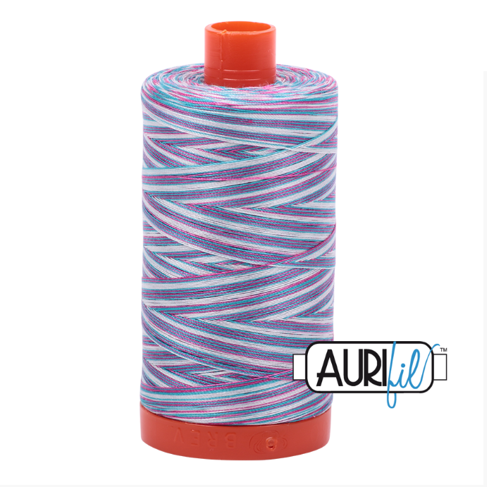 Aurifil #4647 (Variegated - Berrylicious)<br>50 Wt. - 1422 Yds.