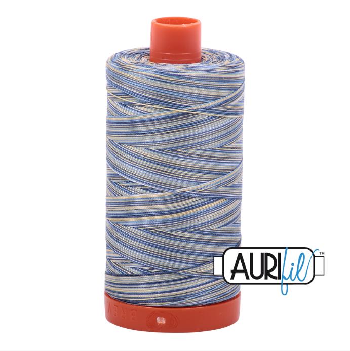 Aurifil #4649 (Variegated - Lemon Blueberry)<br>50 Wt. - 1422 Yds.