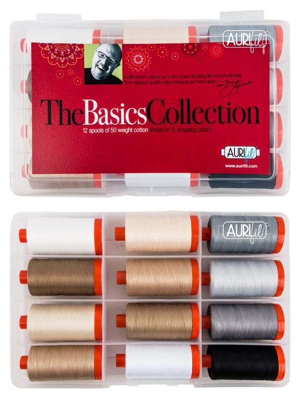 Aurifil Basics Box <br>12 spools of 50 Wt. - 1422 Yds.