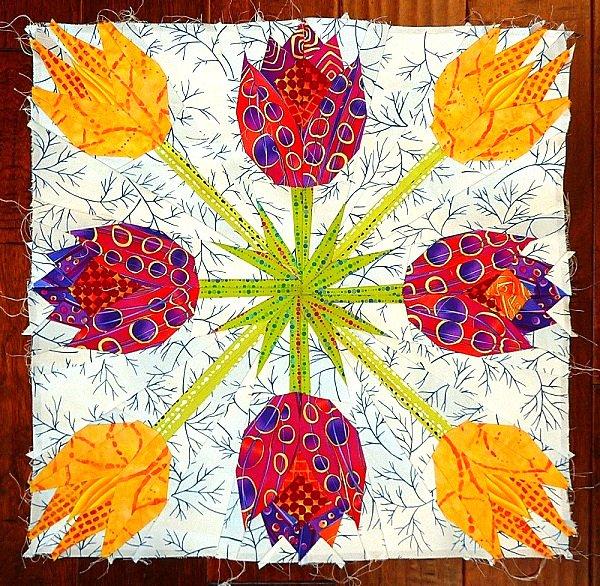 Tessellating Tulips - Ann Shaw - Pattern