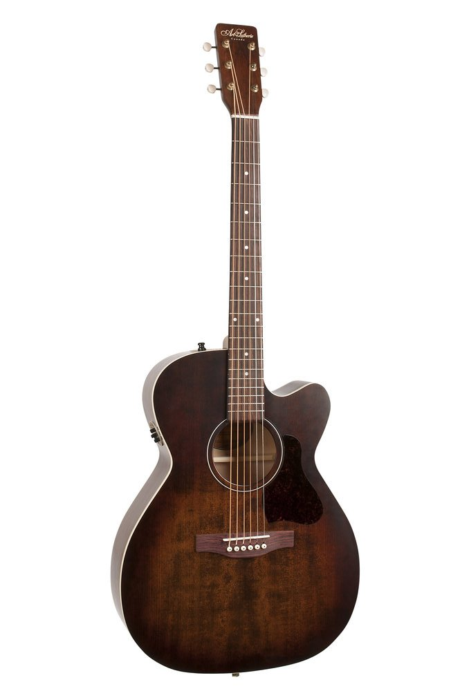 Art & Lutherie Legacy Bourbon Burst Cutaway with QIT Electronics