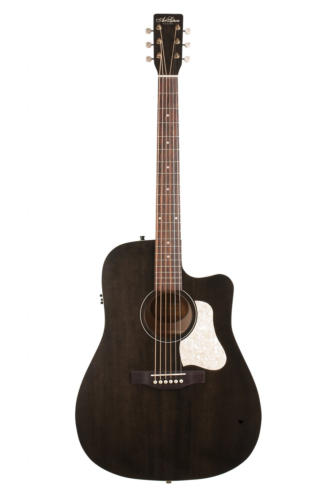 Art & Lutherie Americana Faded Black Cutaway with QIT