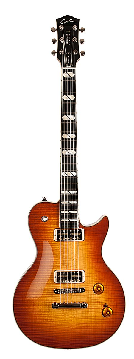Godin Summit Classic Supreme Limited Cognac Burst Flame with Lollar Gold Foil Pickups and Deluxe Case