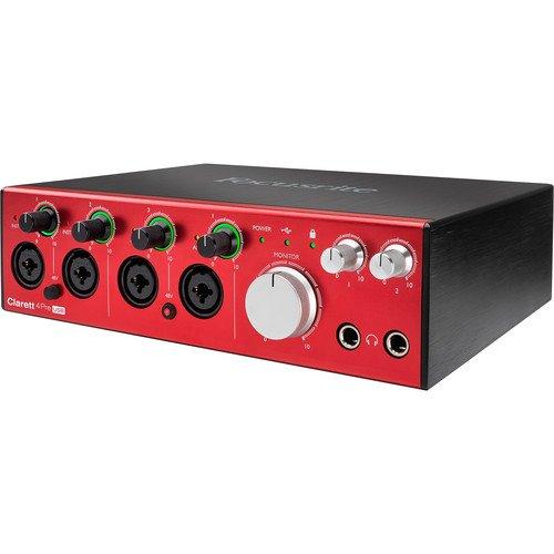 Focusrite Clarett 4Pre USB 18-In 8-Out Audio Interface