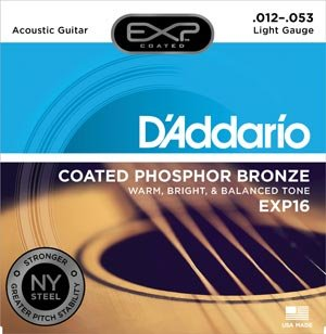 D'Addario EXP16 Coated Light Acoustic String 12-53