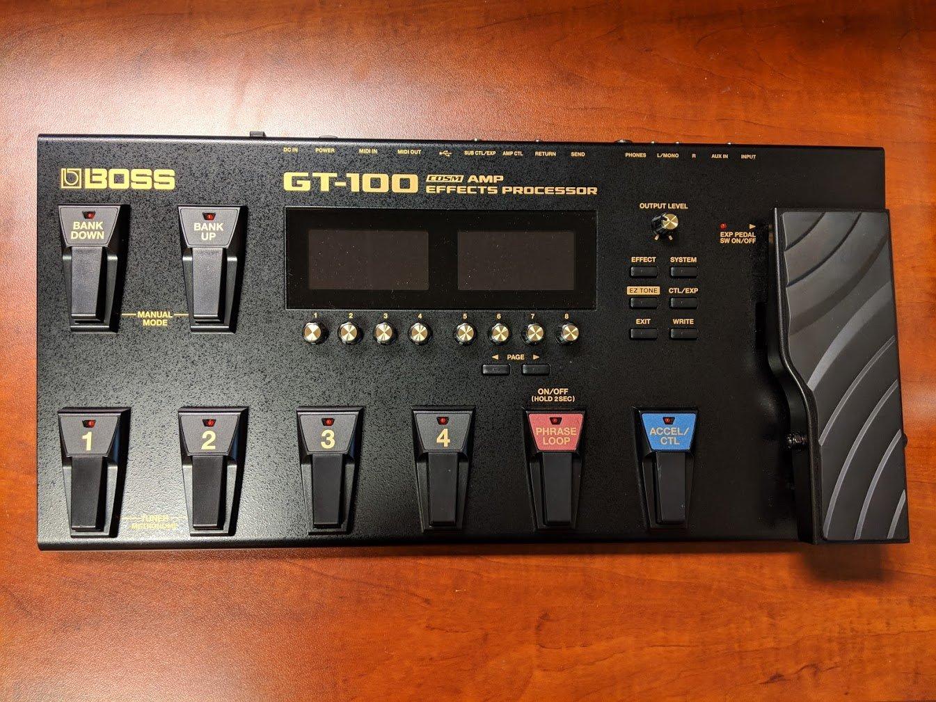 OPEN BOX - BOSS GT-100 Amp Effects Processor