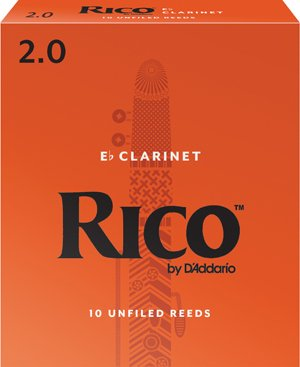 Rico by D'addario Eb Clarinet Reeds - 2 (10 Pack)