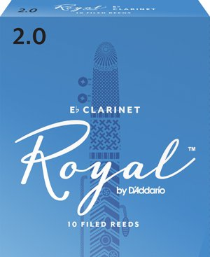 Royal  by D'addario Eb Clarinet Reeds - 2.5 (10 Pack)