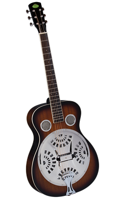 Round Neck Resonator Guitar Sunburst