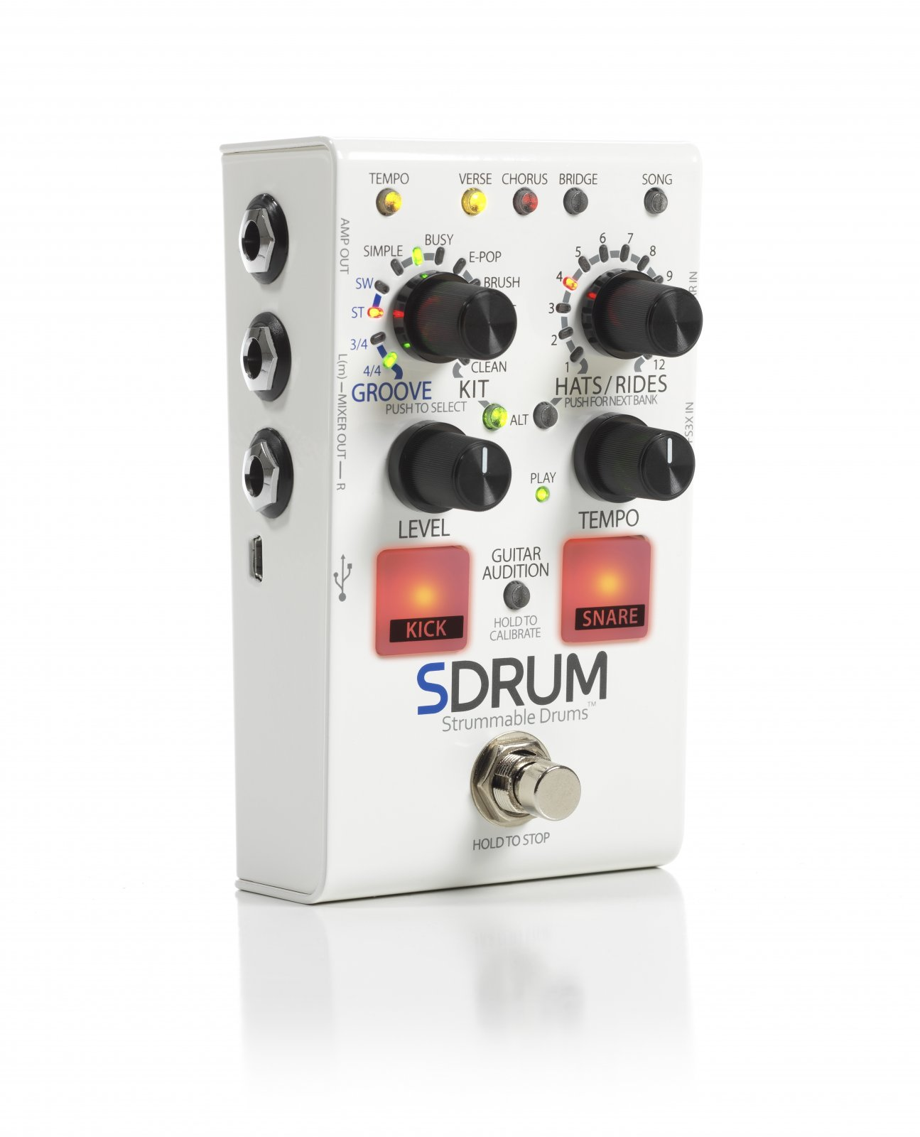 OPEN BOX Digitech SDRUM Strummable Drums
