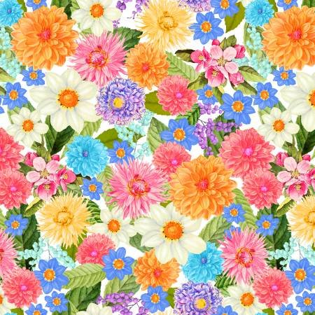 3 YD 108 WIDE BACK BRIGHT FLORAL