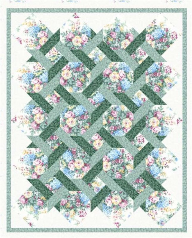 Garden twist for Garden trellis designs quilt patterns
