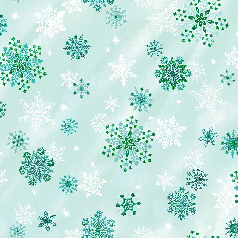 EVERGREEN SPARKLING SNOWFLAKE SKY