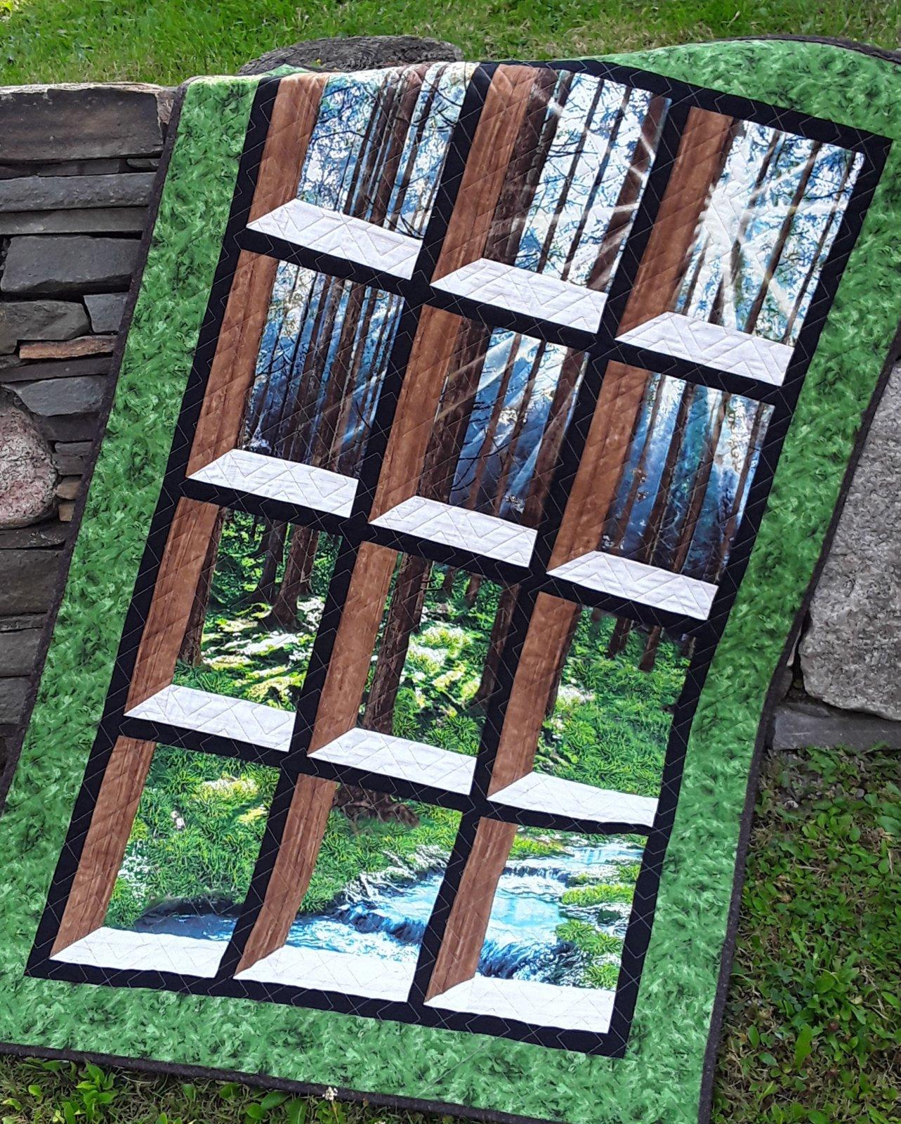 SUNNY FOREST ATTIC WINDOW