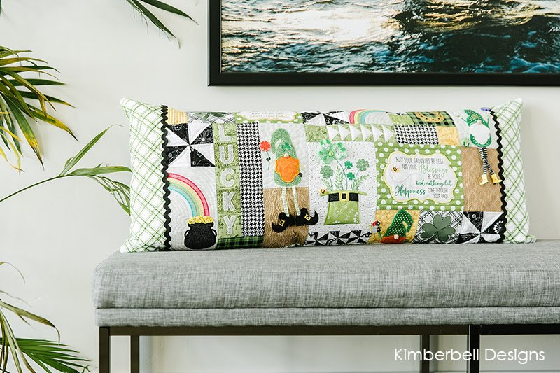 EMB KB LUCK O' THE GNOME BENCH PILLOW