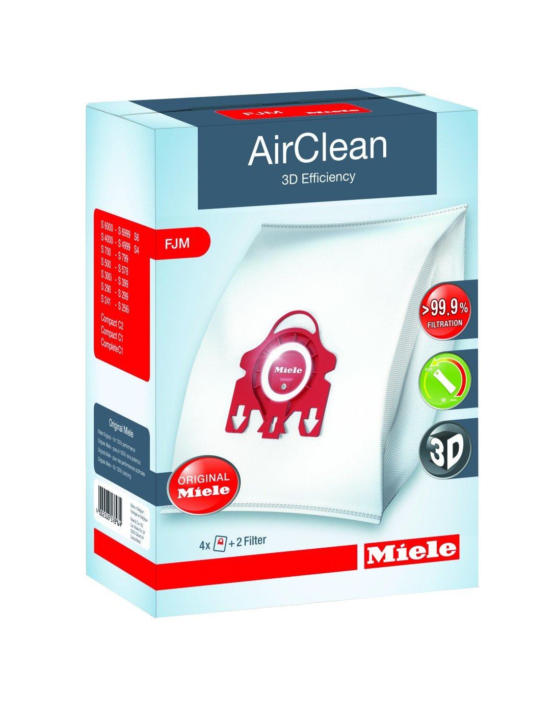 Miele FJM 3D AirClean FilterBags - 4 Pack