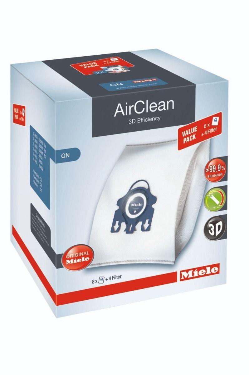 Miele GN XL Airclean 3D FilterBags - 8 Pack