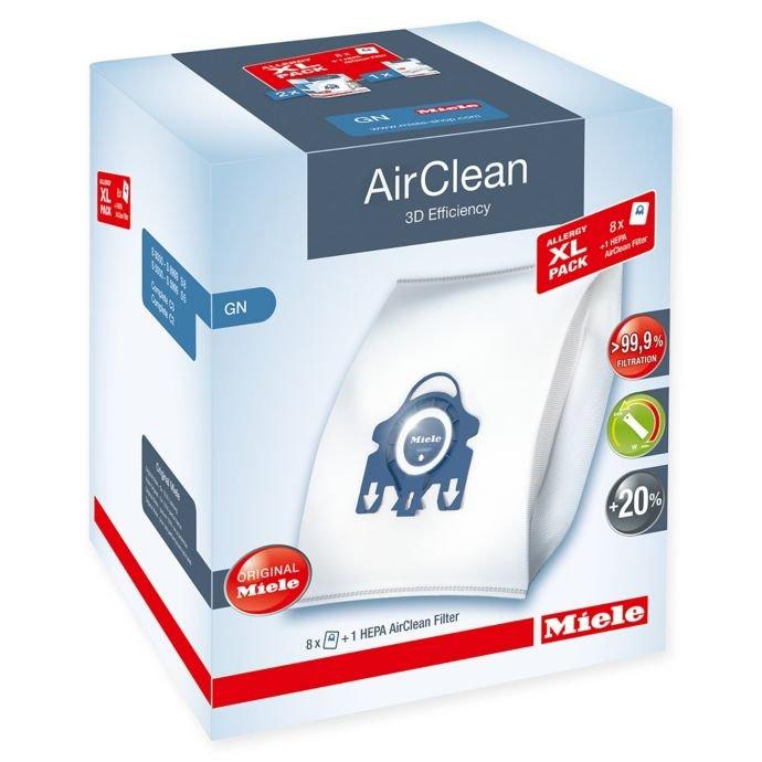 Miele Allergy XL-Pack AirClean 3D Efficiency GN - 8 Pk & HEPA Filter