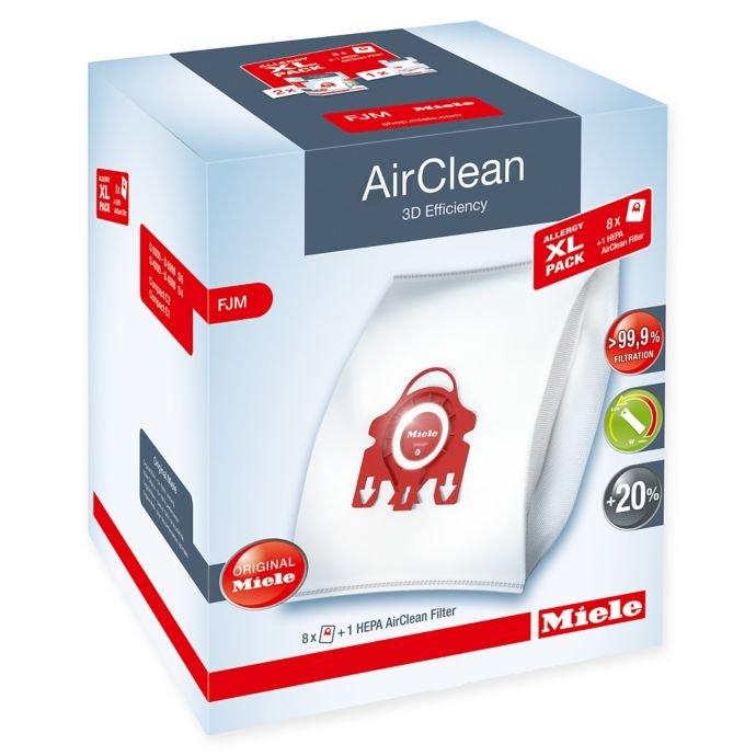 Miele Allergy XL-Pack AirClean 3D Efficiency FJM - 8 Pk & HEPA Filter