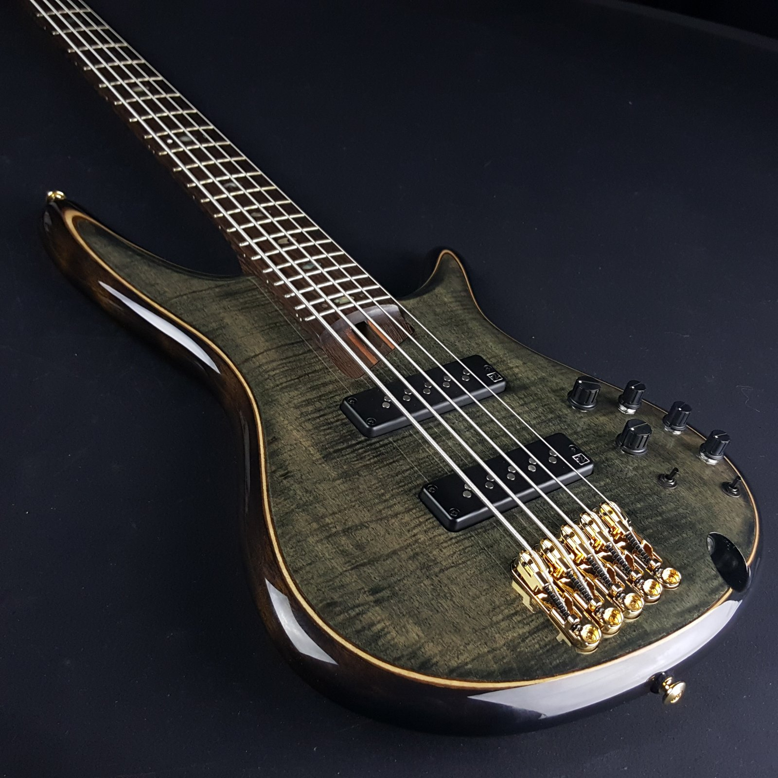 Ibanez SR1405TGK 5 String Bass Transparent Gray Black With Bag