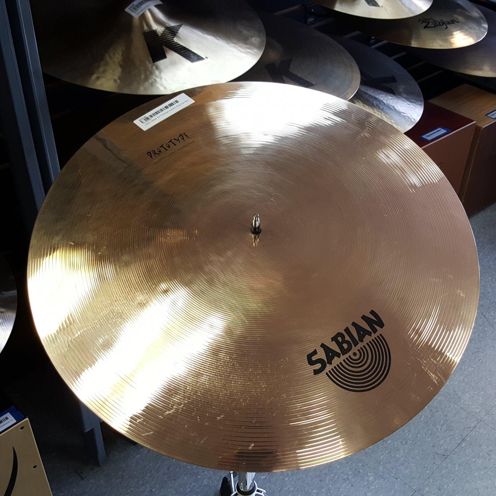 USED Sabian 22 Prototype B8 Pro Custom Shop Flat Ride  Cymbal 2811g