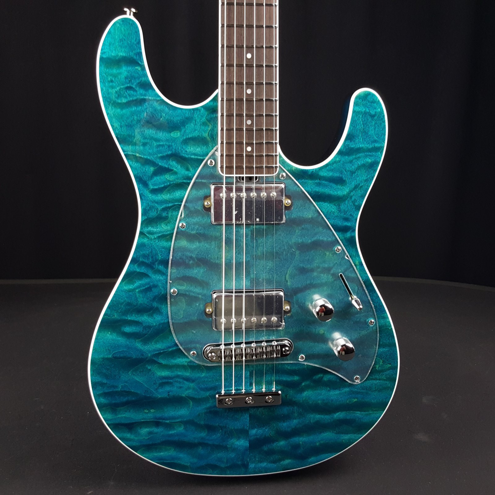 Ernie Ball Music Man BFR Steve Morse Quilt Top Tahitian Blue