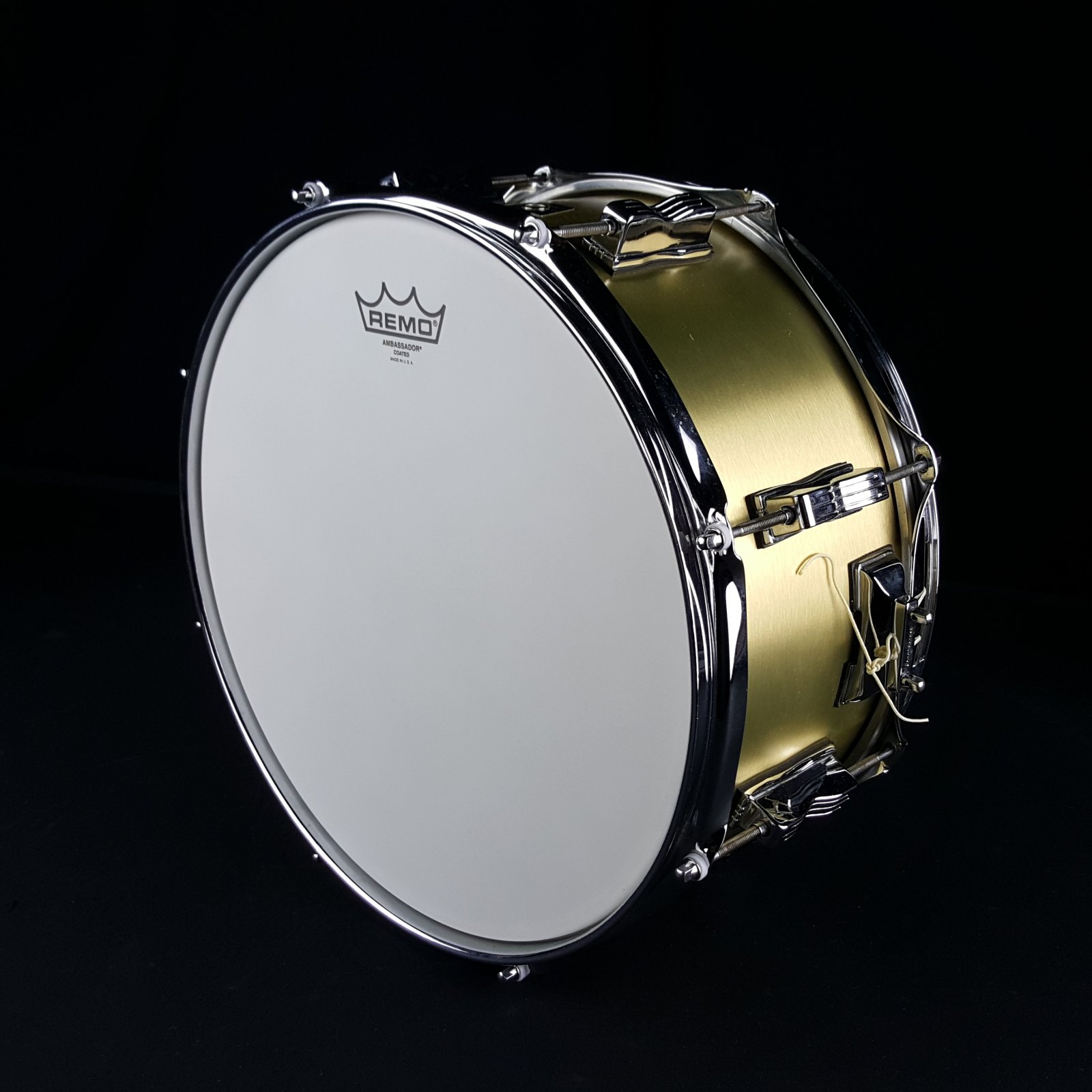 USED Ludwig 6.5 x 14 Snare Drum Standard Birch Brass Covering