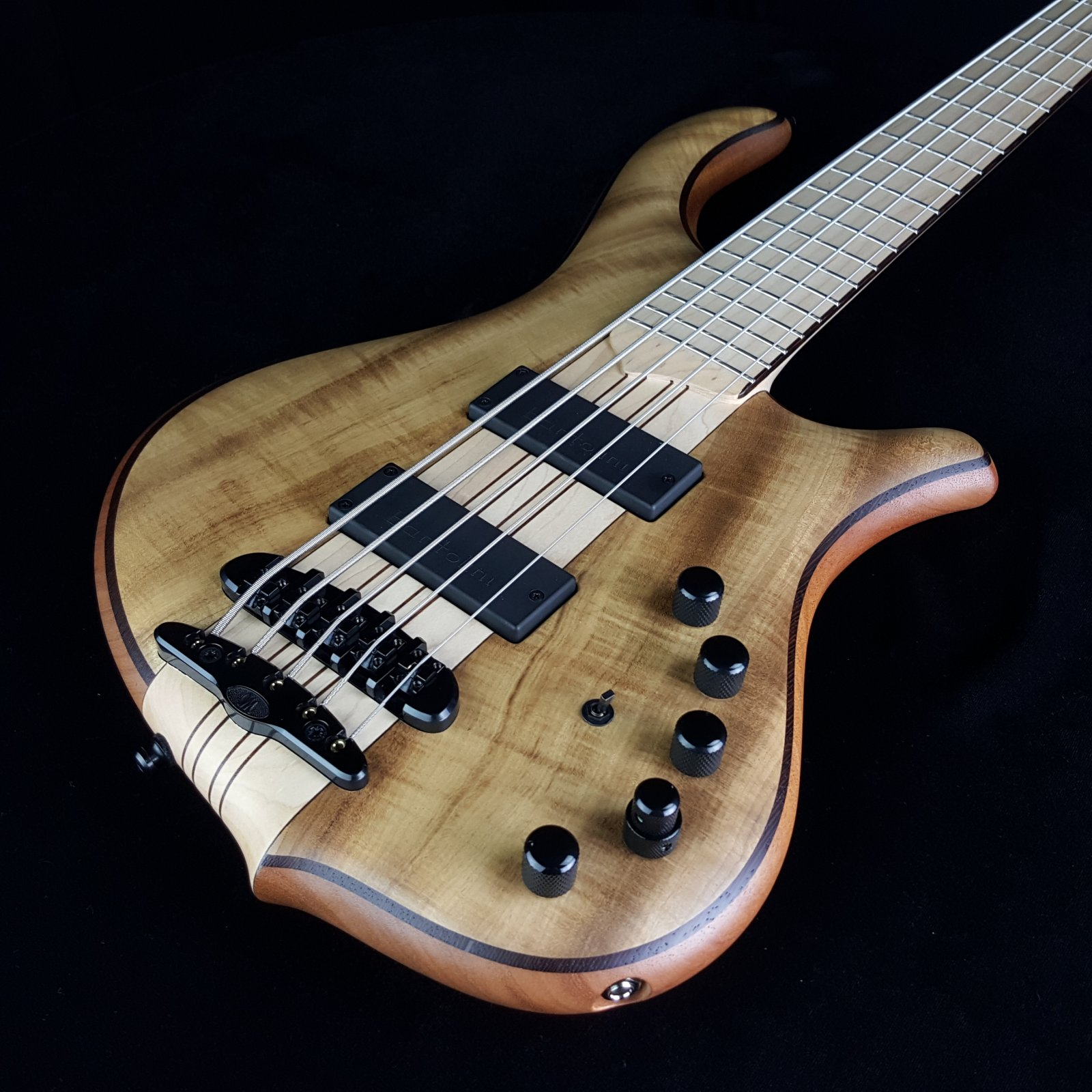 Mayones Slogan 5 String Bass Myrtlewood, with Case