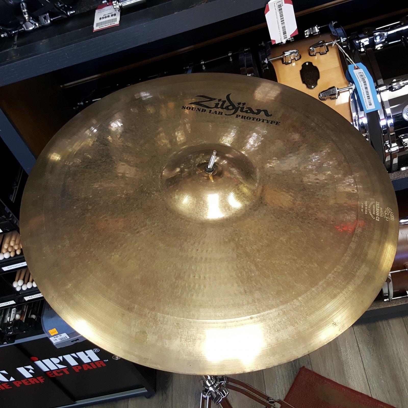 Used Zildjian 22 Sound Lab Prototype Heavy Ride Cymbal 2779g