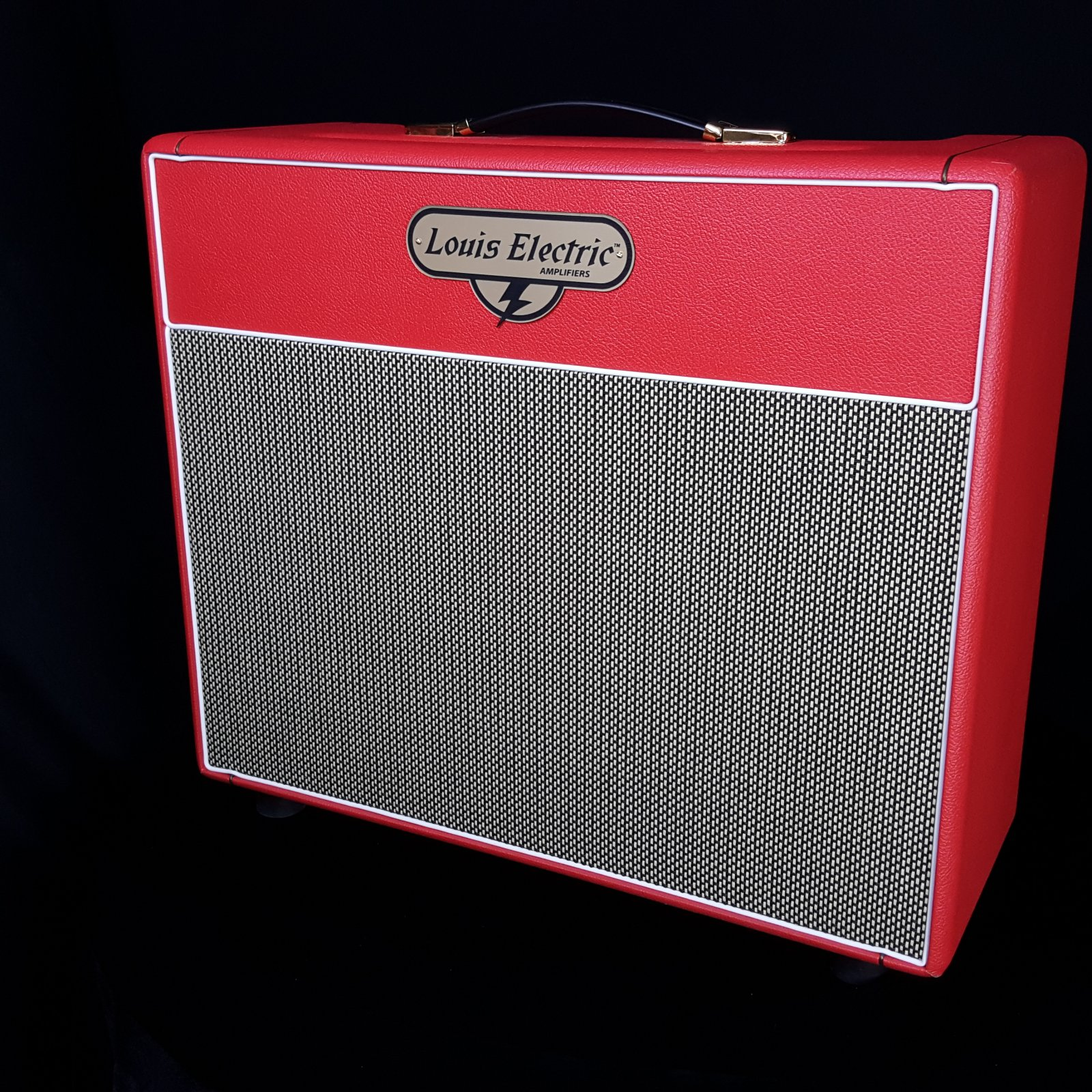 USED Red Louis Electric Baby Bluesbuster Guitar Combo Amplifier w/ Cover