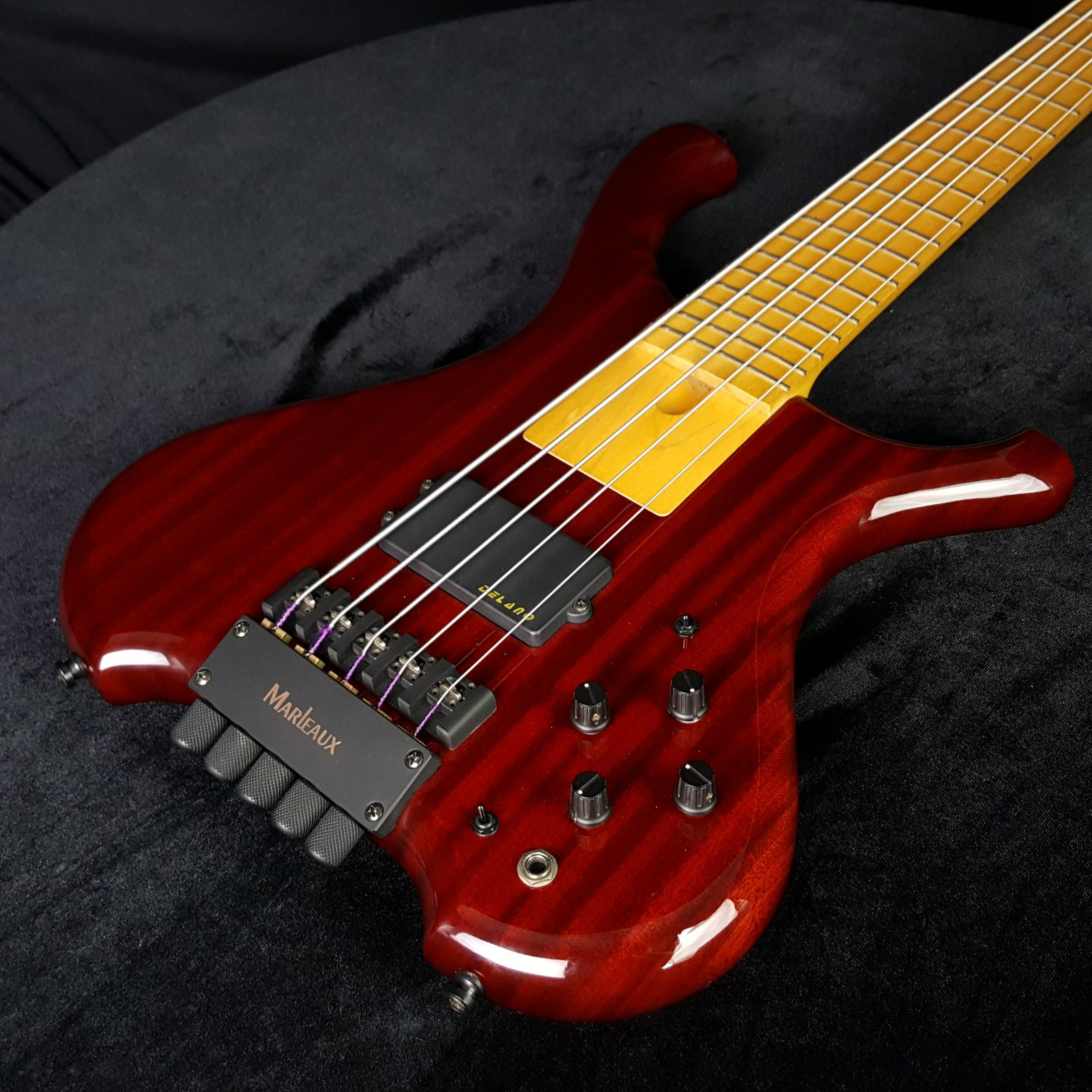 Used Marleaux Betra 5 String Headless Bass with Bag