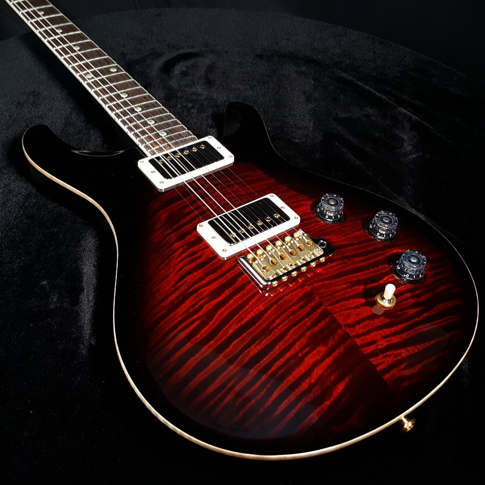 Paul Reed Smith PRS DGT Grissom 10 Top, Fire Red Smokeburst